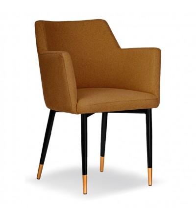 BARI MUSZTARDOWE krzesło tapicerowane VELVET