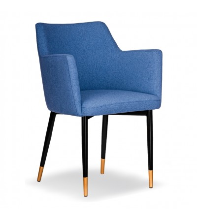 BARI NIEBIESKIE krzesło tapicerowane