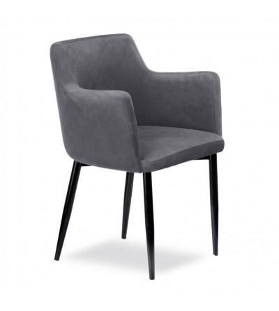 BARI CIEMNO SZARE krzesło tapicerowane velvet