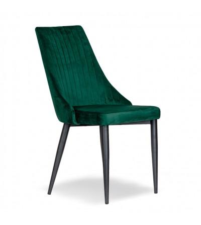 AGATKA ZIELONE krzesło tapicerowane velvet