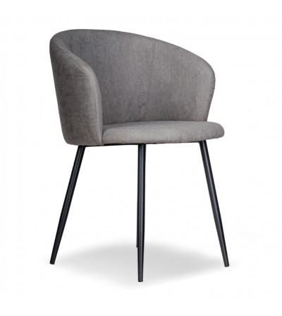 SOFII JASNO SZARE krzesło tapicerowane