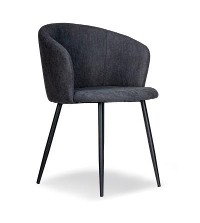SOFII CIEMNO SZARE krzesło tapicerowane velvet