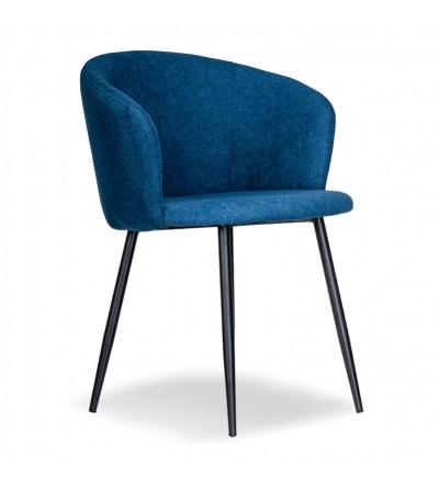 SOFII GRANATOWE krzesło tapicerowane