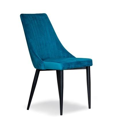 AGATKA TURKUSOWE krzesło tapicerowane velvet