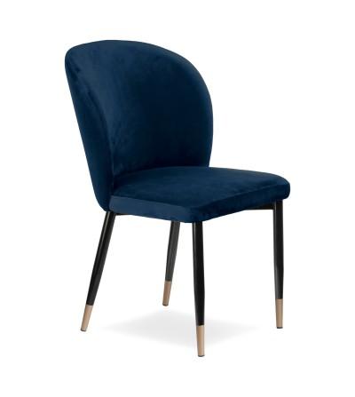 RIO GRANATOWE krzesło tapicerowane velvet