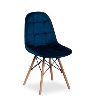 NINA GRANATOWE krzesło tapicerowane velvet