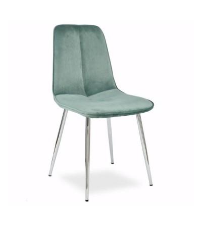 LENA MIĘTOWE krzesło tapicerowane velvet