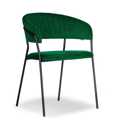 FEBA ZIELONY krzesło tapicerowane velvet