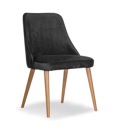 NATALIA SZARE krzesło tapicerowane velvet