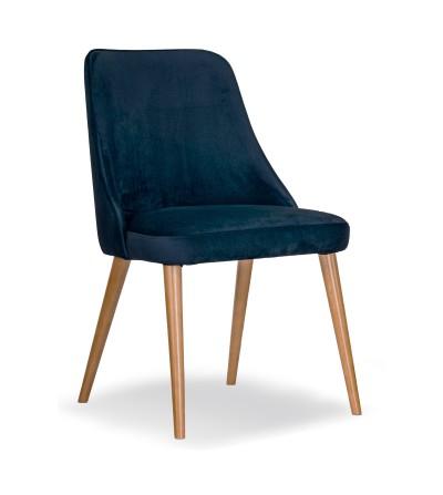 NATALIA GRANATOWE krzesło tapicerowane velvet