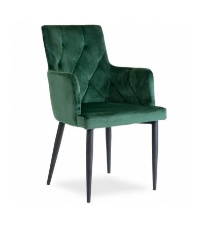 CAREN II ZIELONE krzesło tapicerowane velvet