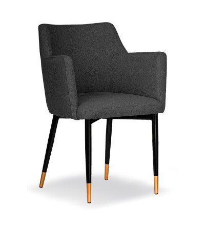 BARI GRAFITOWE krzesło tapicerowane VELVET