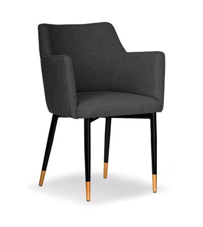 BARI GRAFITOWE krzesło tapicerowane