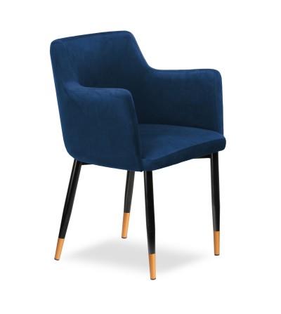 BARI GRANATOWE krzesło tapicerowane velvet