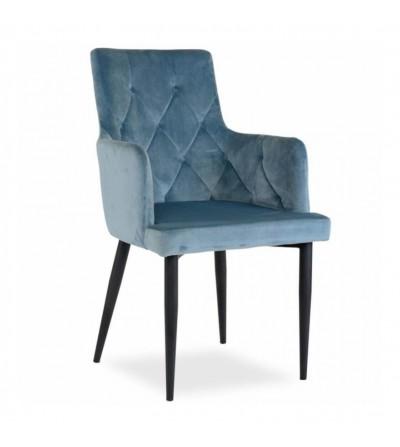 CAREN II NIEBIESKIE krzesło tapicerowane velvet