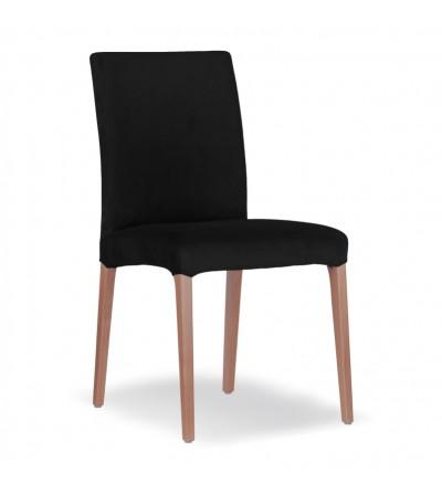 LARS CZARNE krzesło tapicerowane velvet