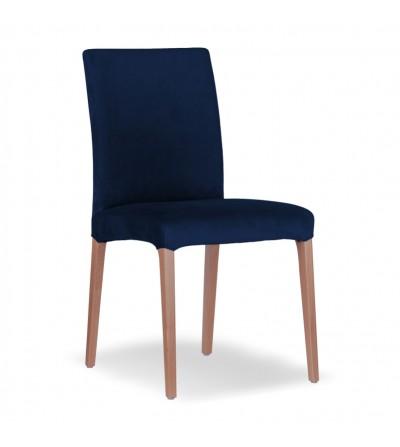 LARS GRANATOWE krzesło tapicerowane velvet