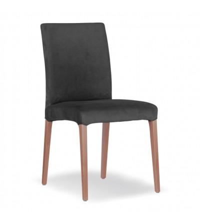 LARS CIEMNO SZARE krzesło tapicerowane velvet