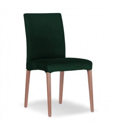 LARS ZIELONE krzesło tapicerowane velvet