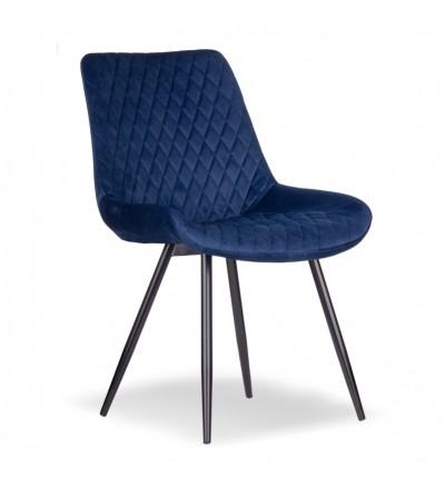 SANDI GRANATOWE krzesło tapicerowane velvet