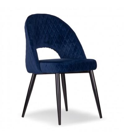 AMBER GRANATOWE krzesło tapicerowane velvet