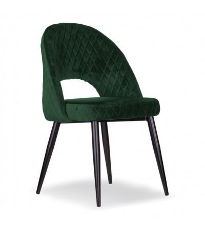AMBER ZIELONE krzesło tapicerowane velvet