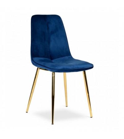 LENA GRANATOWE krzesło tapicerowane velvet