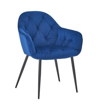 YORK GRANATOWE krzesło tapicerowane velvet