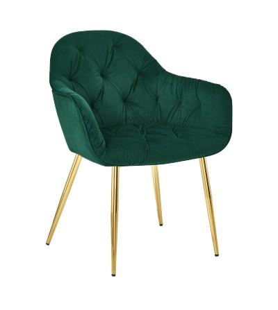 YORK ZIELONE krzesło tapicerowane velvet