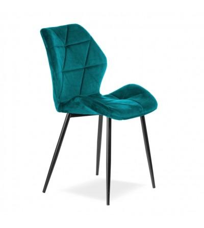 MAYA 2  TURKUSOWE krzesło tapicerowane VELVET