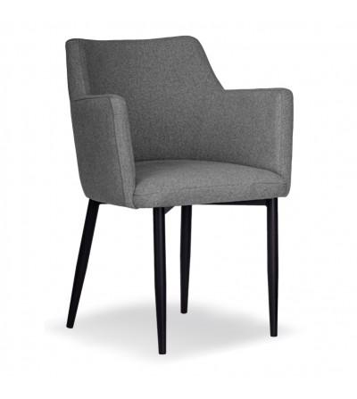 BARI SZARE krzesło tapicerowane VELVET
