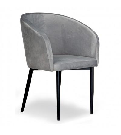 CARINE SZARE krzesło tapicerowane velvet