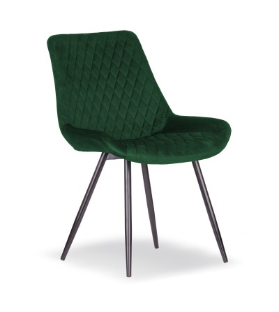 SANDI ZIELONE krzesło tapicerowane velvet