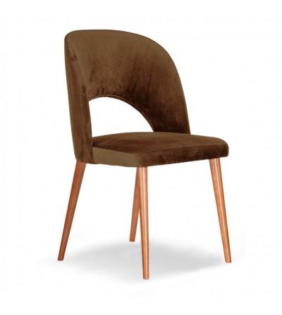 ZOYA BRĄZOWE krzesło tapicerowane velvet