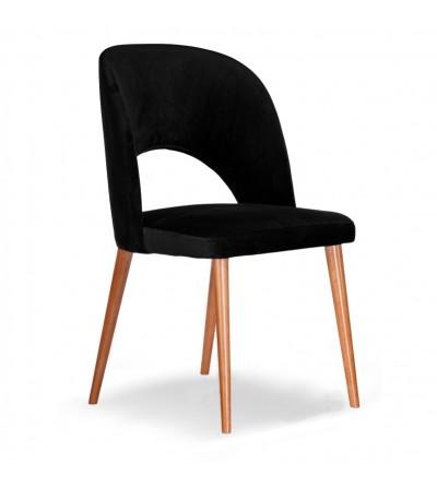 ZOYA CZARNE krzesło tapicerowane velvet