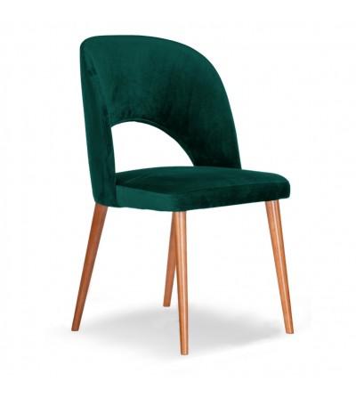 ZOYA TURKUSOWE krzesło tapicerowane velvet