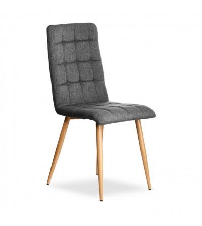 NILO SZARY krzesło tapicerowane