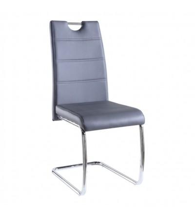 FK-194 SZARY krzesło tapicerowane