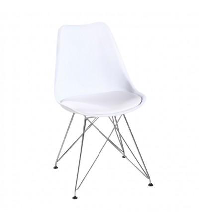 FK-053 BIAŁY krzesło tapicerowane