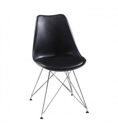 FK-053 CZARNY krzesło tapicerowane