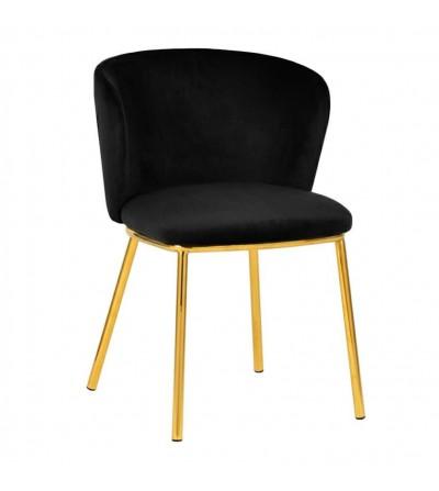 MANDY CZARNE krzesło tapicerowane VELVET