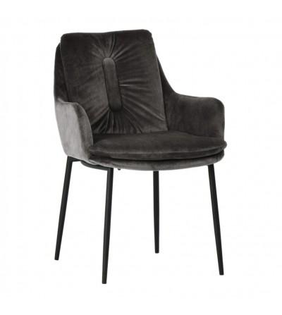 GRANT SZARE krzesło tapicerowane VELVET