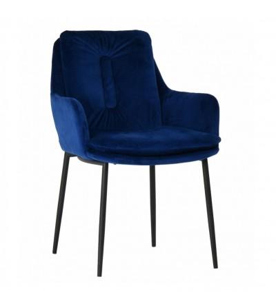 GRANT GRANATOWE krzesło tapicerowane VELVET