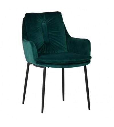 GRANT ZIELONE krzesło tapicerowane VELVET