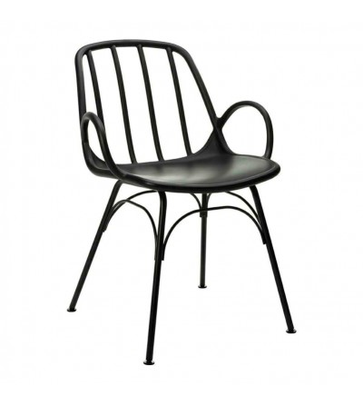 CASTERIA CZARNE krzesło tapicerowane VELVET
