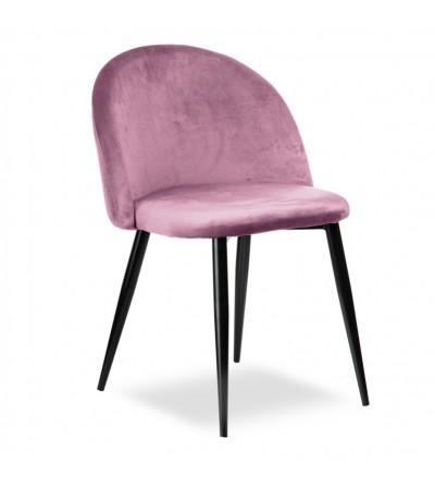 SOUL RÓŻOWE krzesło tapicerowane velvet