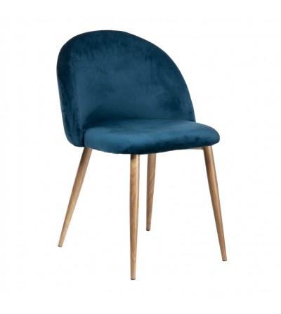 SOUL GRANATOWE krzesło tapicerowane velvet