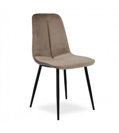 LENA BEŻOWE krzesło tapicerowane velvet