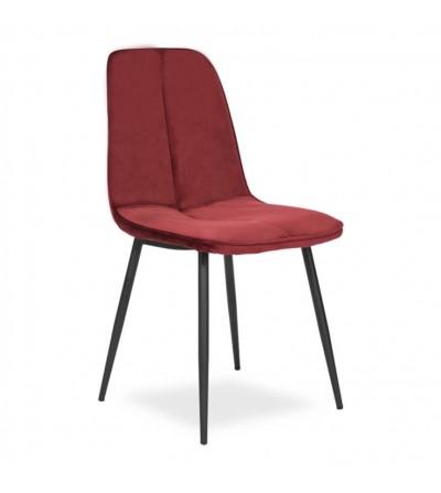 LENA BORDOWY krzesło tapicerowane velvet