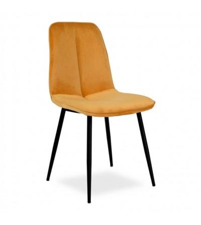 LENA MUSZTARDOWY krzesło tapicerowane velvet